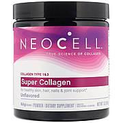 Супер Коллаген, Тип 1&3, NeoCell, 7 унций (198 гр)