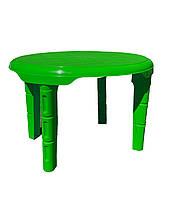 Детский пластиковый столик Консенсус ЗЕЛЕНЫЙ Овальный 61 х 75 см