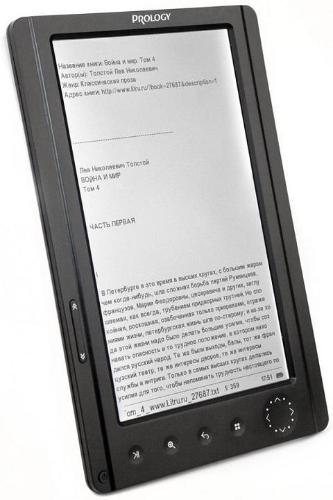 Б/У Prology Latitude T-703 качественный TFT-ридер. Дефект на матрице экрана без зарядки