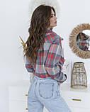 Клетчатая свободная удлиненная рубашка S Рубашки, Chic Look, Повседневный, фото 3
