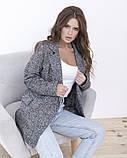 Серый удлиненный твидовый пиджак, фото 4