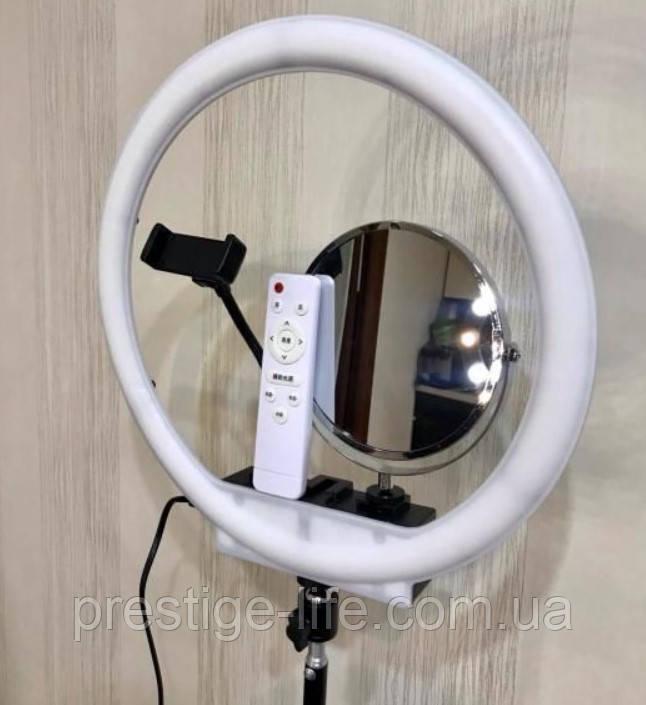 Кільцева LED лампа з дзеркалом і штативом (35см)