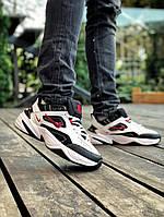 Мужские кроссовки Nike M2K Tekno White Black Red Найк М2К Техно