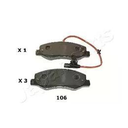 Гальмівні колодки задні Renault Master 10 - JAPANPARTS