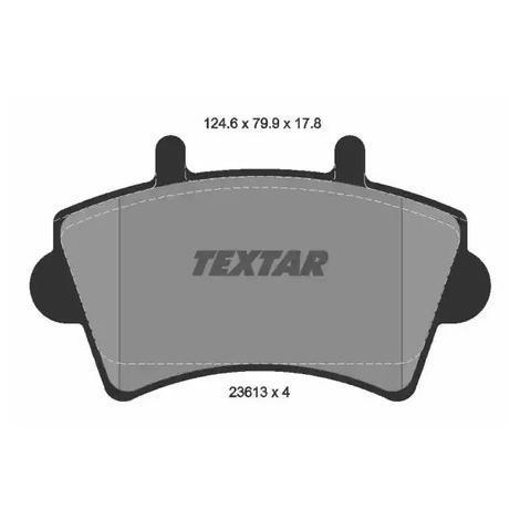 Гальмівні колодки предние Renault Master 01 - TEXTAR