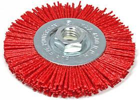 Щетка дисковая 100 мм х М14 по металлу и дереву из нейлоновой проволоки для болгарки (Германия)