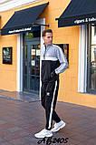 Мужской спортивный костюм двойка кофта на молнии+штаны двухнить размеры:48,50,52,54, фото 3