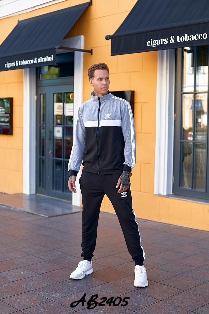 Мужской спортивный костюм двойка кофта на молнии+штаны двухнить размеры:48,50,52,54