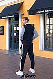 Мужской спортивный костюм двойка кофта на молнии+штаны двухнить размеры:48,50,52,54, фото 5