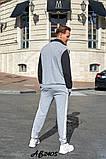 Мужской спортивный костюм двойка кофта на молнии+штаны двухнить размеры:48,50,52,54, фото 6