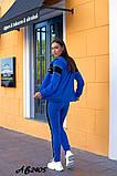 Cпортивный костюм тройка кофта на молнии+футболка+штаны коттон+двухнить размер:48,50,52,54,56, фото 8