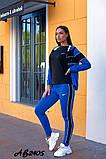 Cпортивный костюм тройка кофта на молнии+футболка+штаны коттон+двухнить размер:48,50,52,54,56, фото 3