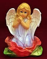 Статуэтка Ангелочек Девочка на лотосе, цветной