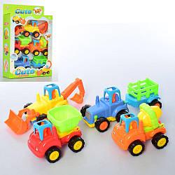 Набор стройтехники 345-2A с инерционным механизмом набор детских машинок