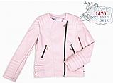 Курточка косуха из искусственной кожи для девочки Моне р-ры 110,122,128,134,140,146, фото 4