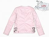 Курточка косуха из искусственной кожи для девочки Моне р-ры 110,122,128,134,140,146, фото 3