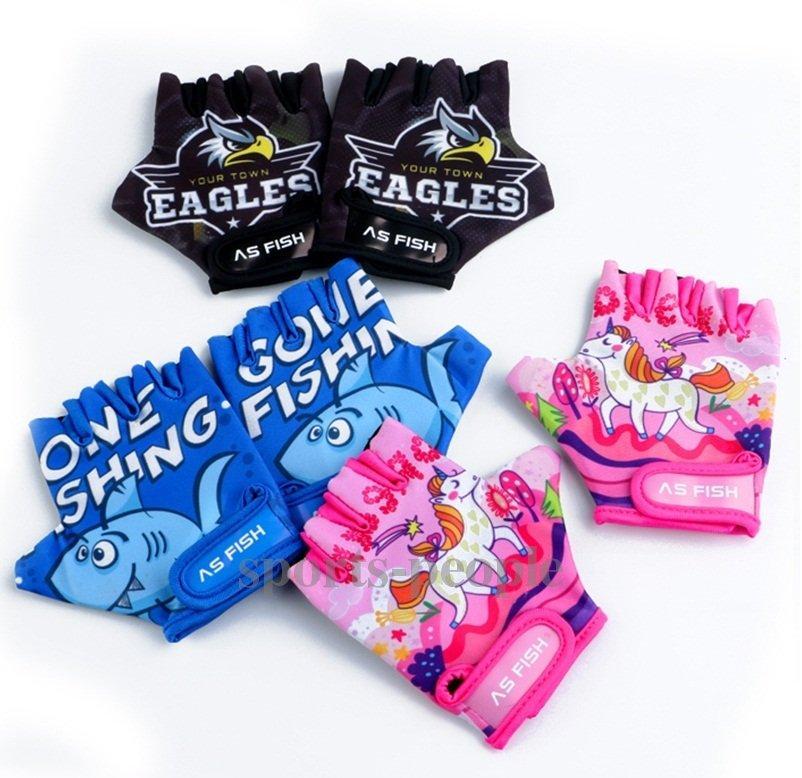 Рукавички велосипедні (велоперчатки) дитячі, AS Fish, розмір XS, S, різном. кольори.