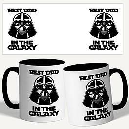 """Чашка с принтом """"Best dad in the galaxy.. Лучший папа в галактике"""""""