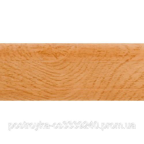 Плінтус підлоговий пластиковий LinePlast L038 Дуб золотий c центральним кабель-каналом