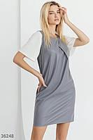 Прямое платье-мини с драпировкой