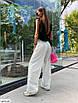 Стильные женские брюки-трубы в спортивном стиле с необработанными краями, фото 3
