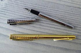 Ручка Чорнильна Перо метал золото/срібло FP918 7652Ф Baixin
