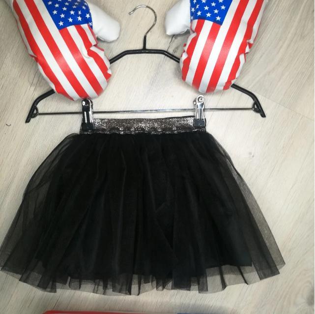 Фатиновая юбка на девочку черный