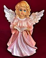 Фигурка декоративная Ангелочек с книгой новая, цветной, 24 см