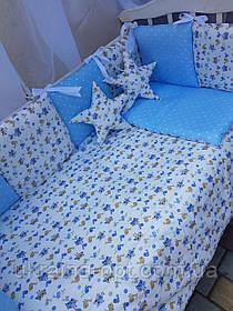 Комплект в кроватку 8в1 Bonna