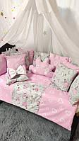 Комплект постельного белья в детскую кроватку Облако код1999