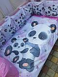 Комплект в детскую кроватку 8 в 1 Спальный комплект для девочки, фото 2