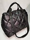 Новый стиль Женские сумка дутики стеганная на плечо/Дутая Сумка женская спортивная только оптом, фото 2