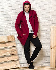 Комплект мантія з капюшоном і спортивні штани чоловічий WB розмір S бордово-чорний