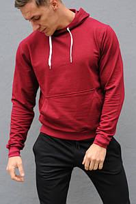 Толстовка мужская с капюшоном WB размер S бордовая