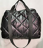Новый стиль Женские сумка дутики стеганная на плечо/Дутая Сумка женская спортивная только оптом, фото 9