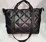 Новый стиль Женские сумка дутики стеганная на плечо/Дутая Сумка женская спортивная только оптом, фото 3