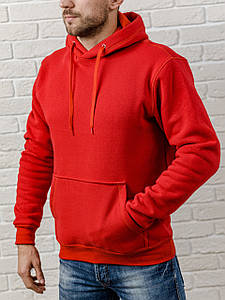 Толстовка теплая мужская с капюшоном WB размер S красная