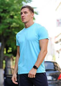 Футболка мужская хлопковая WB размер S голубая