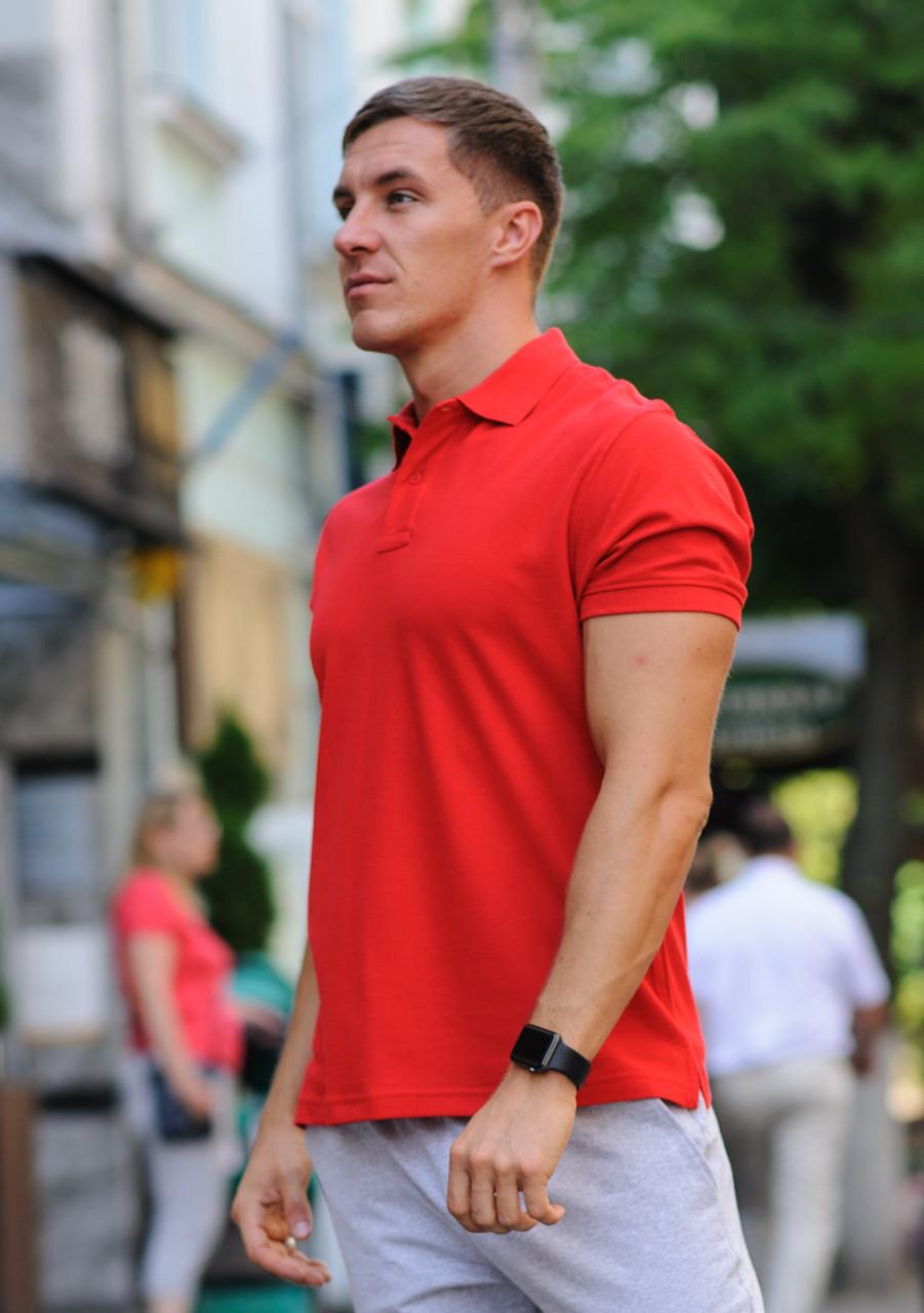 Футболка поло мужская WB размер S красная
