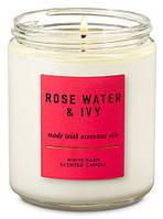 Ароматизированная свеча Rose Water & Ivy Bath & Body Works