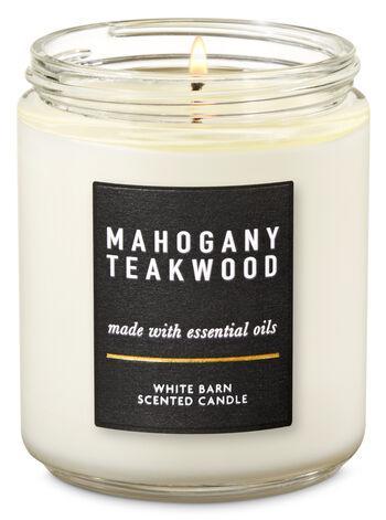 Ароматизированная свеча Mahogany Teakwood Bath & Body Works