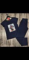 Модная женская пижам штаны и футболка с рисунком