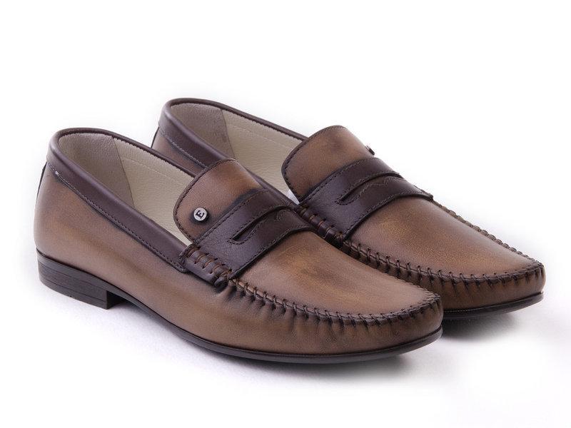 Мокасини Etor 11553-7119  коричневий