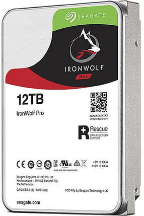 Накопитель HDD SATA 12.0TB Seagate IronWolf Pro NAS 7200rpm 256MB (ST12000NE0008), фото 2
