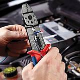 Клещи универсальные для опрессовки и зачистки KNIPEX 97 21 215 B (идеальные автоэлектрикам), фото 2