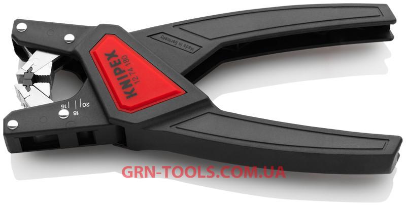 Автоматичний інструмент для видалення ізоляції з круглих кабелів KNIPEX 12 74 180 SB