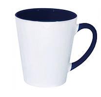 Чашка сублимационная LATTE цветная внутри и ручка КОБАЛЬТ
