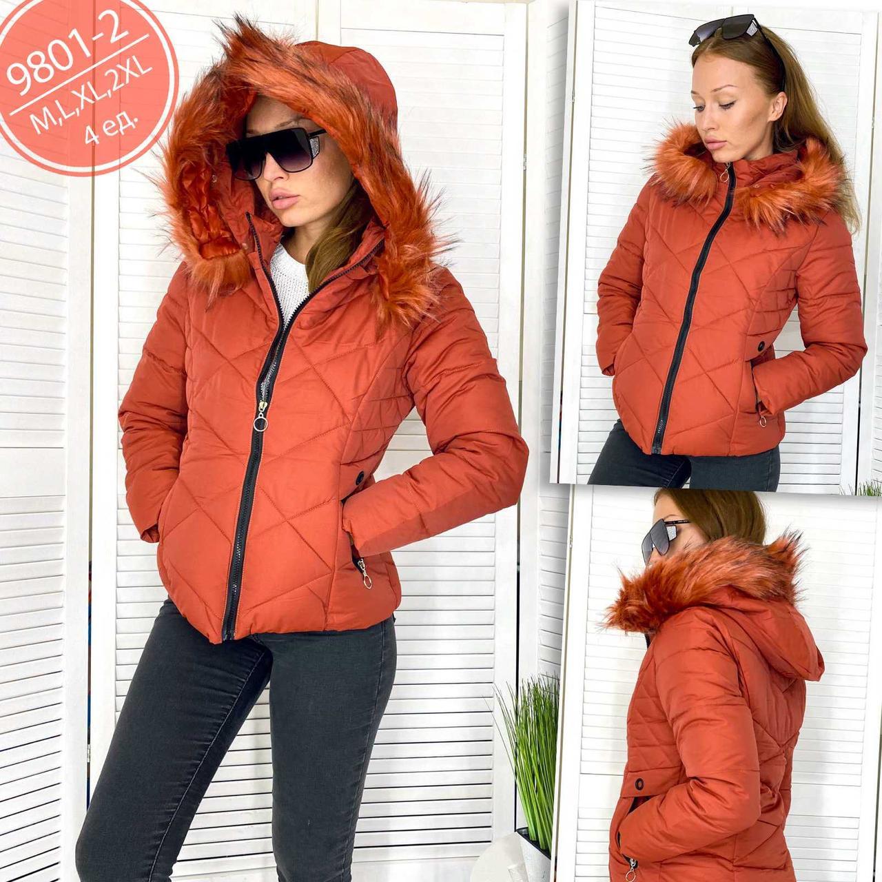 Куртка женская кирпичная демисезонная Xinxinjintaiyang 9801-2