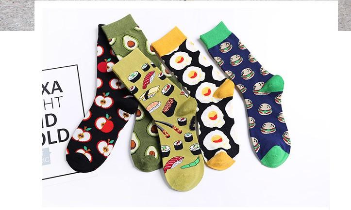 Круті шкарпетки з яскравим принтом носки с едой