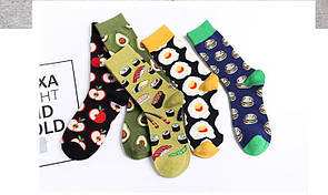 Круті шкарпетки з яскравим принтом шкарпетки з їжею
